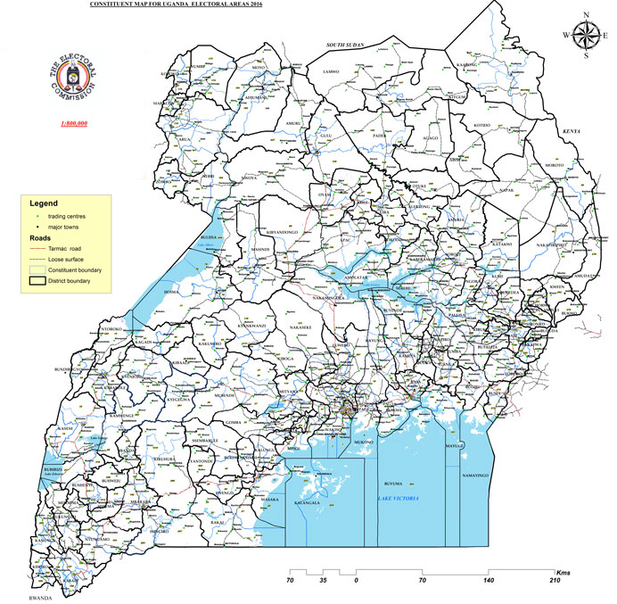 Electoral Map Of Uganda Electoral Commission - Map of uganda